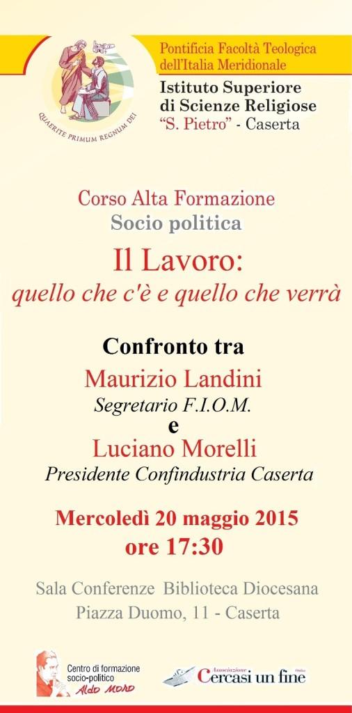 Invito Corso Socio Politico.  Landini - Morelli