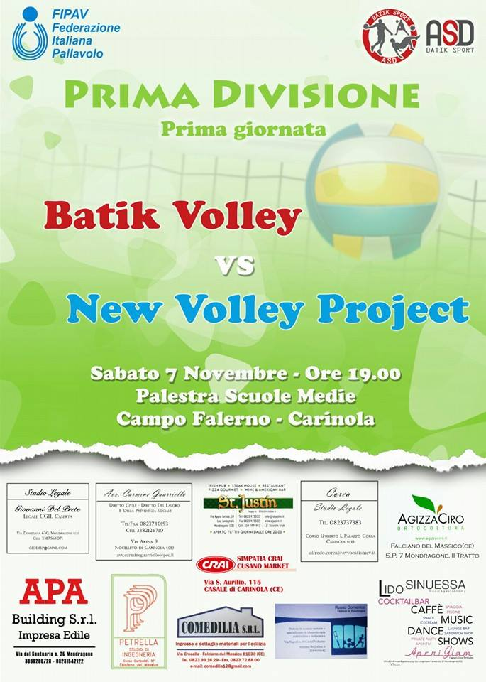 I Giornata Batik Volley