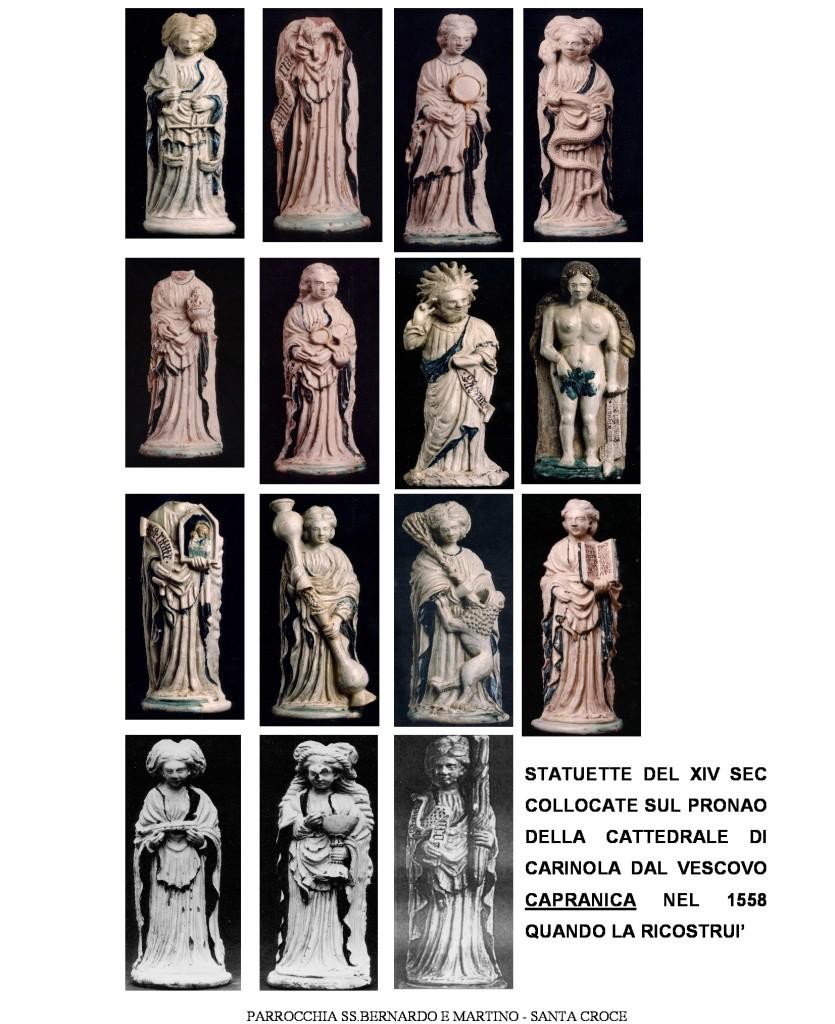 Le 15 statuette