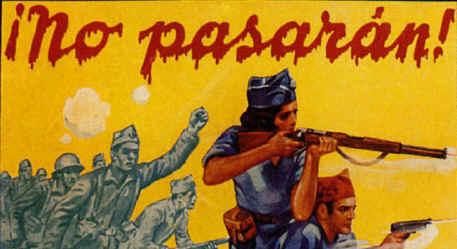 """La resistenza fu sostenuta economicamente e militarmente dall'URSS. Il motto repubblicano (¡No pasarán!) fu ideato da Dolores Ibárruri, detta """"La Pasionaria"""""""