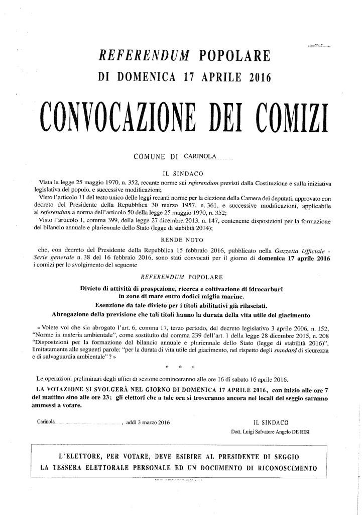 Convocazione dei comizi