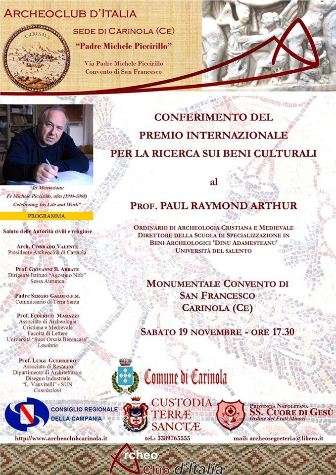 Premio padre Michela Piccirillo - Locandina