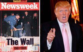 Il Muro di Berlino e Donald Trump 45° presidente USA