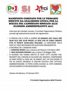 Falciano - Manifesto per le Primarie del 29 gennaio