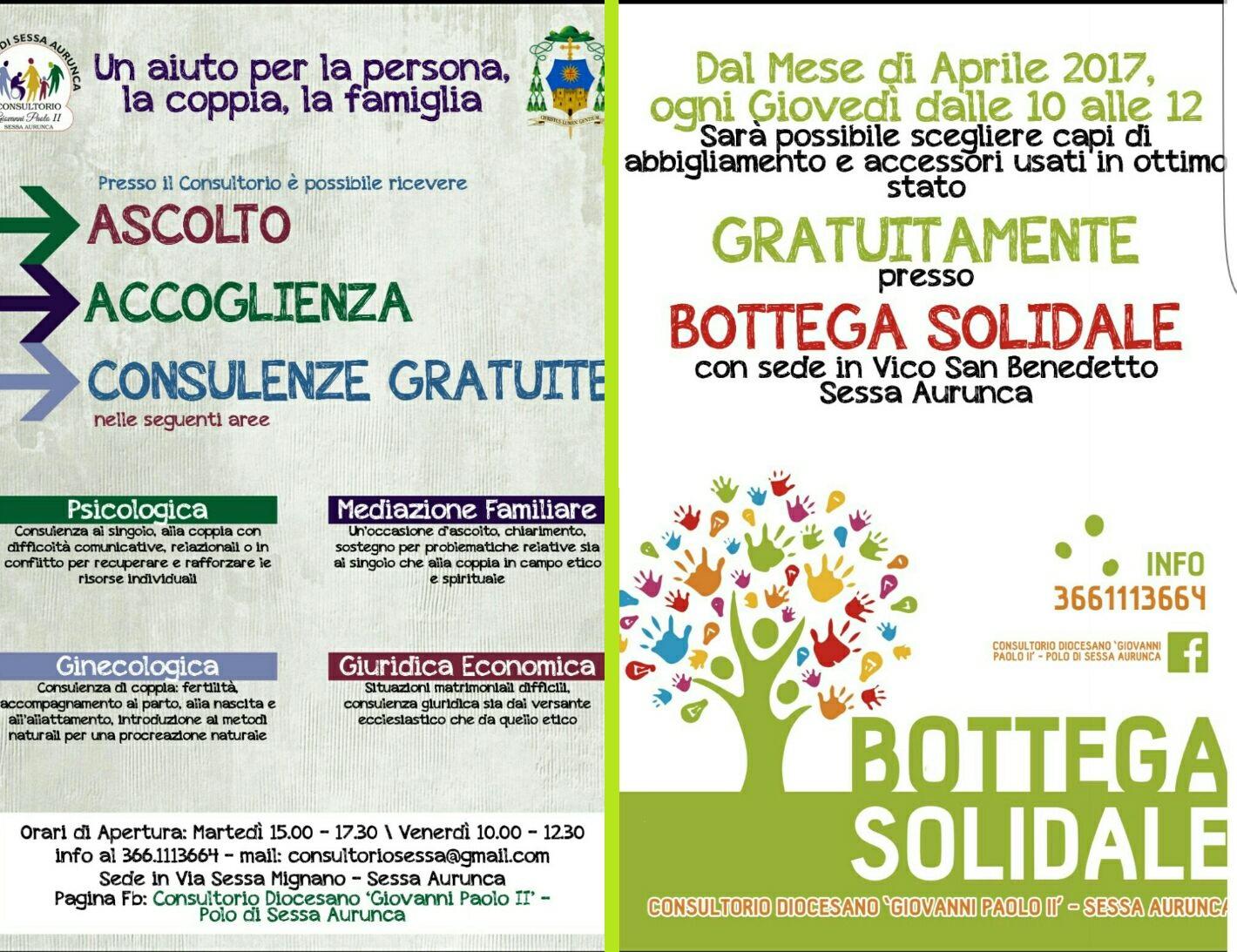 Consultorio diocesano - Bottega solidale