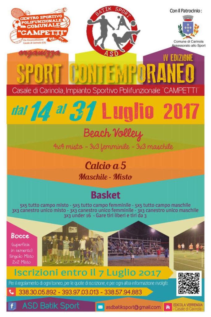 Sport Contemporaneo 2017 - Locandina