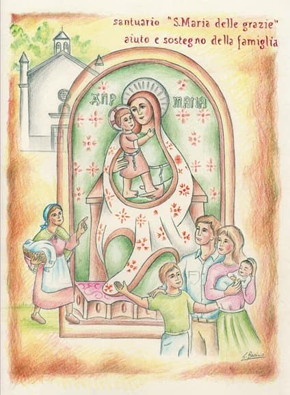 Immaginetta Santuario Santa Maria