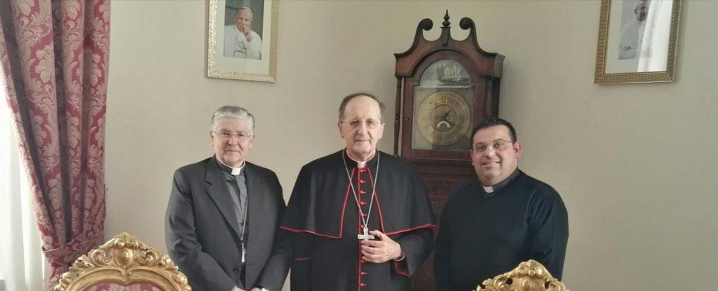 Il vescov Piazza, Sua Eminenza il cardinale Stella e don Luciano