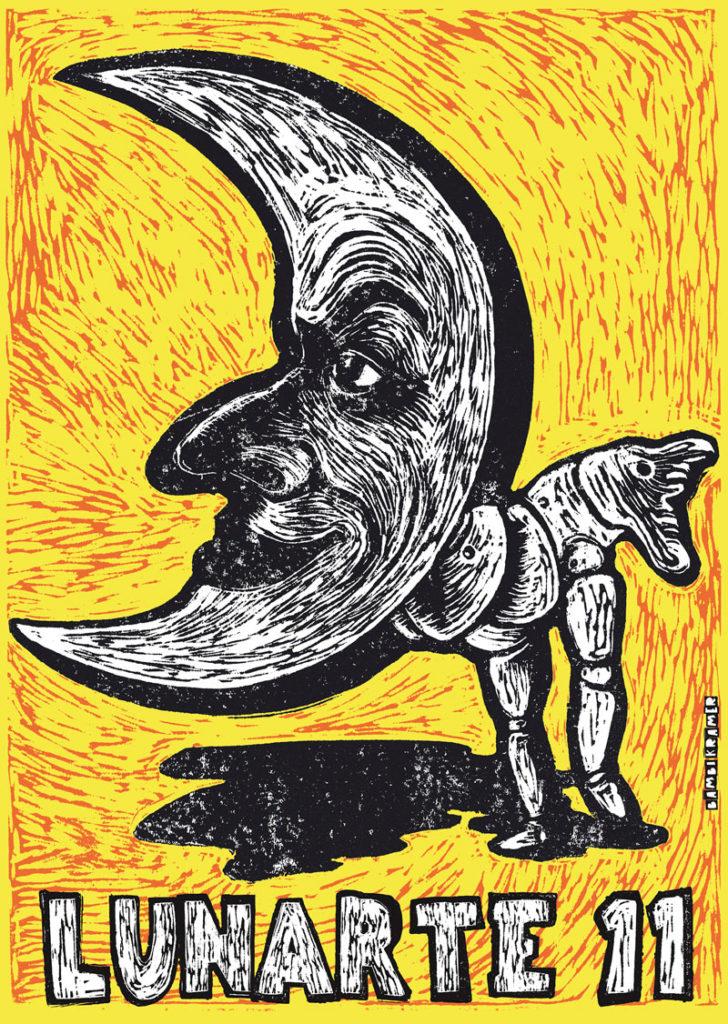 Poster Lunarte 2017 con il logo di Bambi Kramer
