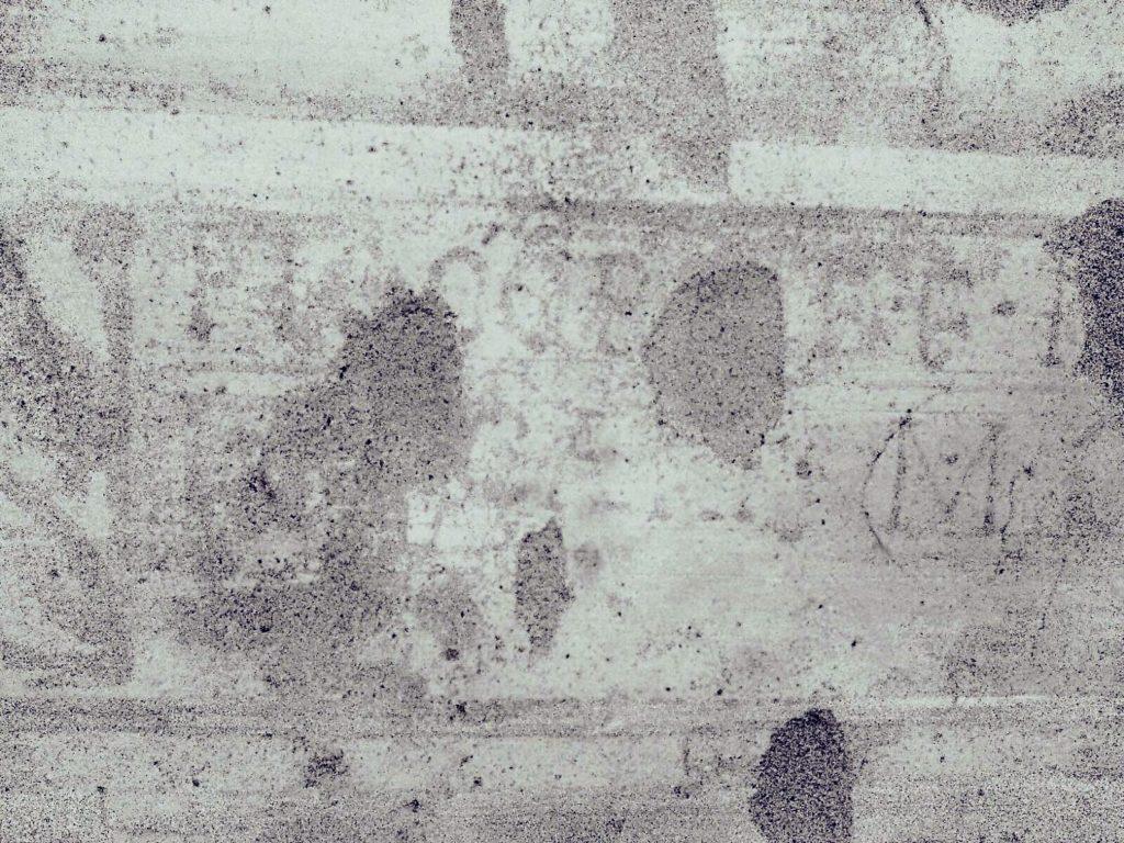 Foto iscrizione, particolare in negativo