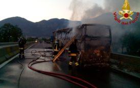 Il Concerto Bandistico Città di Gioia del Colle subisce l'incendio del proprio autobus