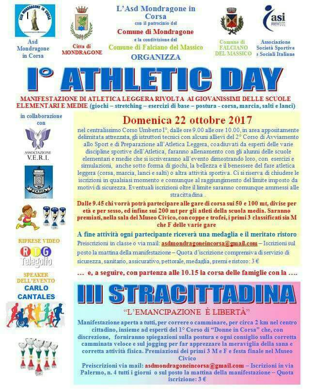 Locandina I ATHLETIC DAY