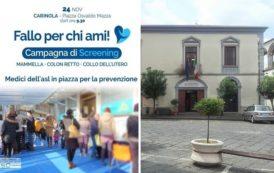 Venerdì 24 novembre, prevenzione anti-tumorale in piazza Mazza a Carinola