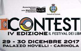 Carinola (CE), Palazzo Novelli, 29 e 30 dicembre 2017: CONTESTI, il Festival dei Libri, IV edizione