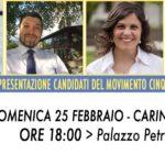 Presentazione candidati del M5S a Carinola
