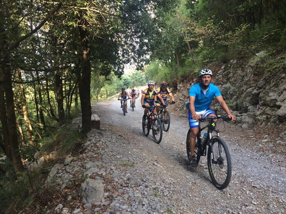 bikers on Monte Massico